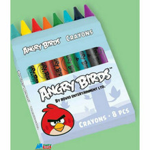 Angry Birds Pack of 8 Colored Crayons
