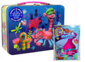 Trolls  XL Carry All Large Tin Lunch Box With Grab and Go Play Pack