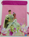 Drawstring Bag - Princess Tiana and The Frog Pink Cloth String Bag