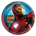 Marvel Iron Man 2 Round Small 7 Inch Party Cake Dessert Plates - blue
