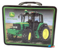 John Deere Small Square Tin School Lunchbox - Black