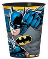 12X Batman Yellow Plastic 16 Ounce Reusable Keepsake Favor Cup ( 12 Cups )