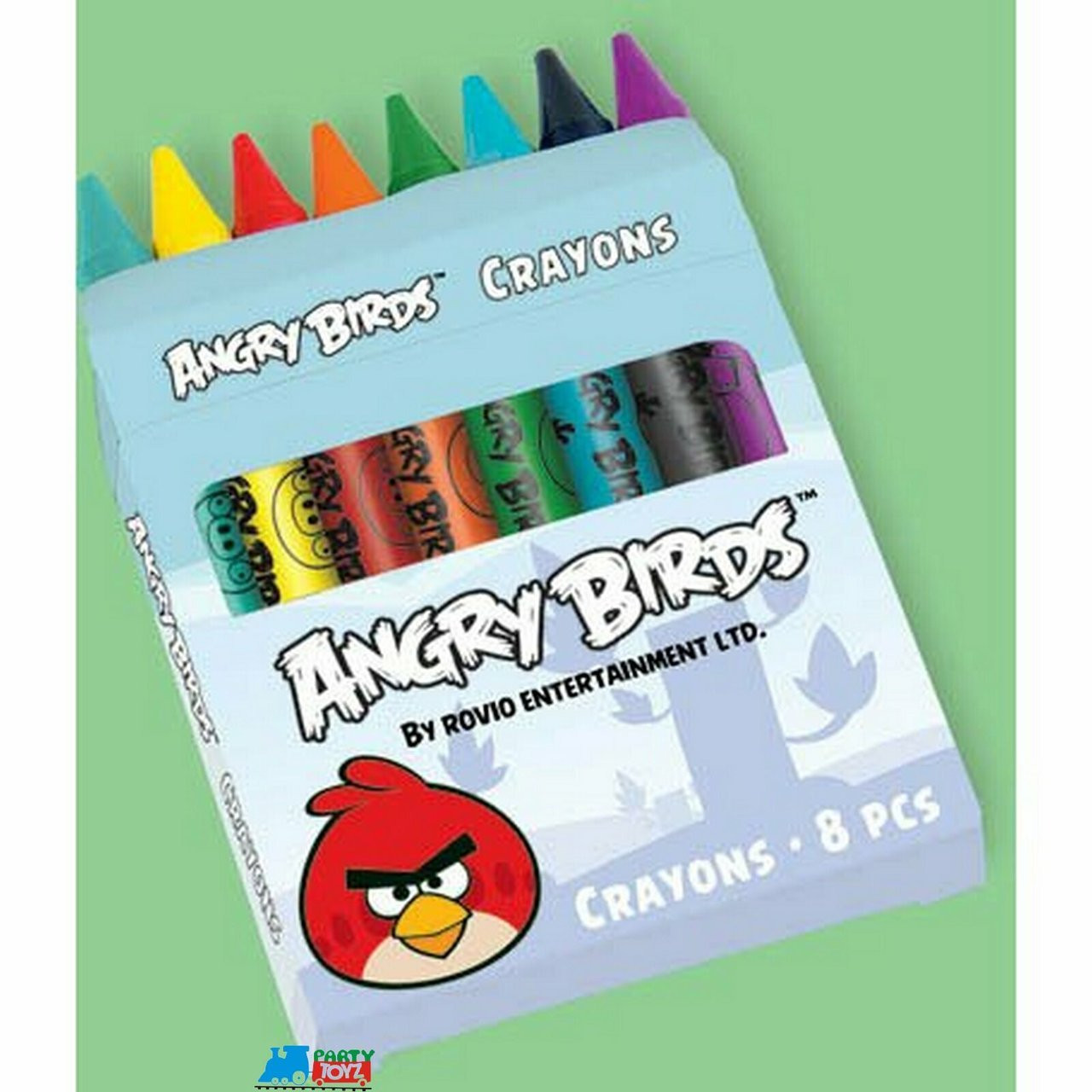12X Angry Birds Crayons Favors for Parties  (12 Packs of 8 crayons each)