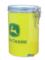 John Deere Round Tin Cookie Jar - Yellow