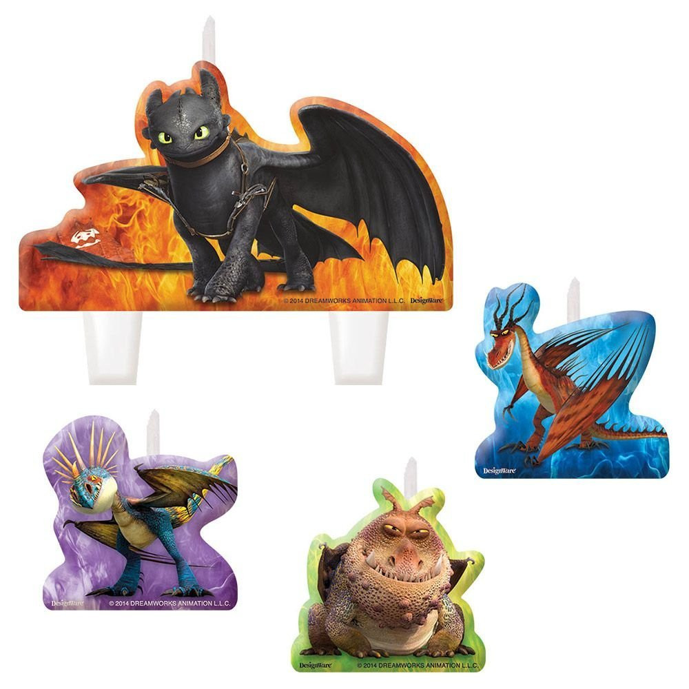 How To Train Your Dragon 2 Molded 4 Piece Candle Set