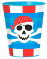 Pirates Treasure Blue Plastic 16 oz Reusable Keepsake Souvenir Favor Cup (1 Cup)
