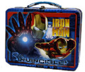 Iron Man 2 Square Carry All Tin School Lunchbox- Blue
