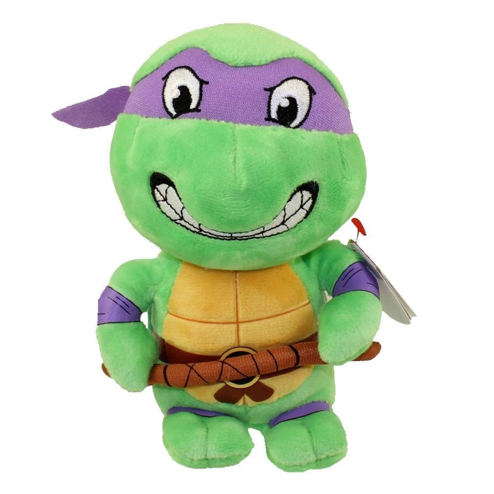 Teenage Mutant Ninja Turtles Beanie Babies  7 Inch Small Toy Plush - Donatello