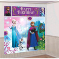 Princess Anna Elsa Frozen Giant Scene Setter Wall Decorating Kit