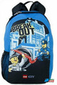 "LEGO City Large 16"" Cloth Backpack Book Bag Pack - ""Break Out"""