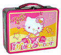 Hello Kitty Carry All Square Tin Stationery Small Lunch Box - So Sweet