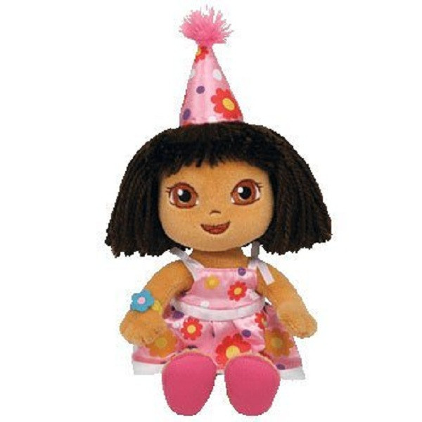"Dora the Explorer Small 7"" Plush Toy - Pink Dress"