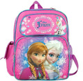 "Frozen Small Toddler 12"" Cloth Backpack Book Bag Pack - Purple/Pink"