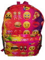 Emoji Full Size 16 Inch Large Backpack - Hot Pink