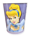 Princess Cinderella Aurora Tin Wastebasket Trash Can Bin