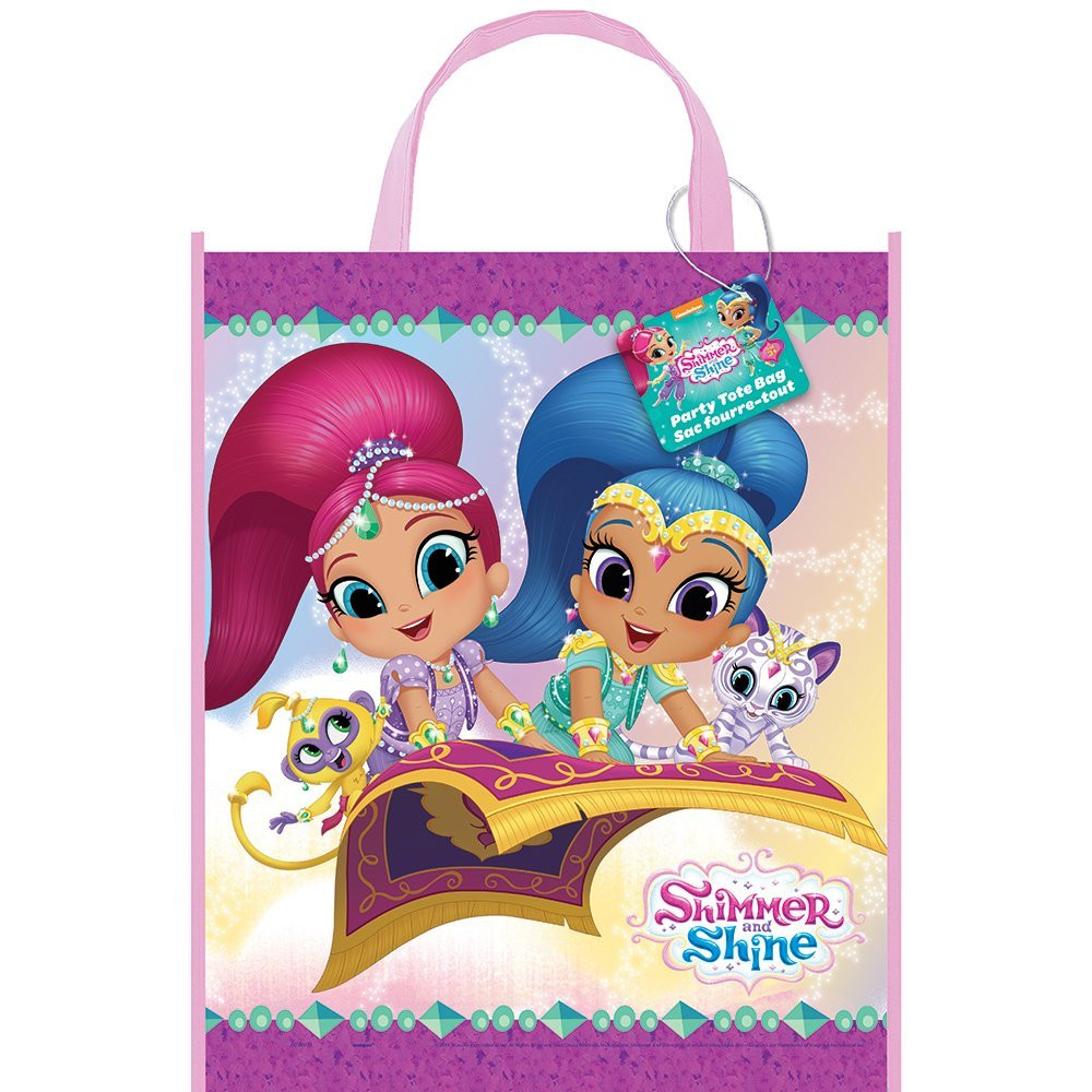 12X Shimmer and Shine Party Gift Favor Tote Bag (12 Bags)
