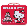 Hello Kitty Square Tin Stationery or Small Lunch Box - Birthday Cake