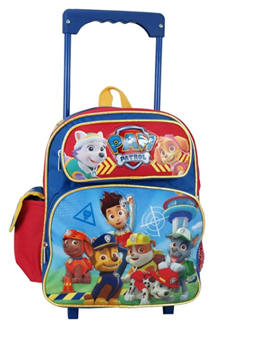 Paw Patrol Small 12 Inch Rolling Backpack - Ryder