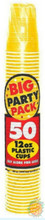 Big Party Pack 12 oz Plastic Cups - Sunshine Yellow