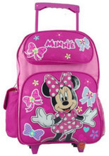 Minnie Mouse Large Rolling 16 Inch Backpack - Pink