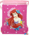 Drawstring Bag - The Little Mermaid Princess Ariel Hot Pink Cloth String Bag