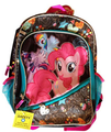 "My Little Pony Large 16"" Cloth Backpack - Black with Designs"