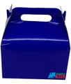 12X Solid Color Blue Paper Treat Boxes