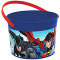 Justice League Plastic Favor Bucket Container ( 1pc )