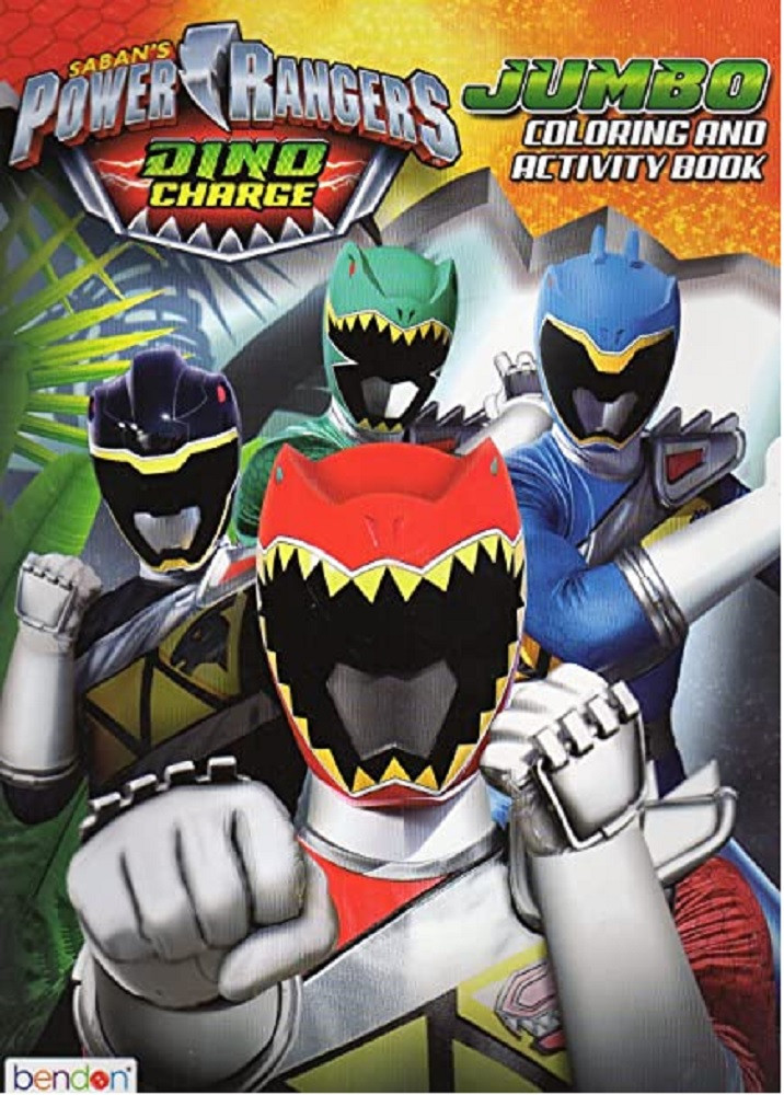 Coloring Book - Power Rangers - Party Favors - 96 Pages - Dino Charge w Black Ranger
