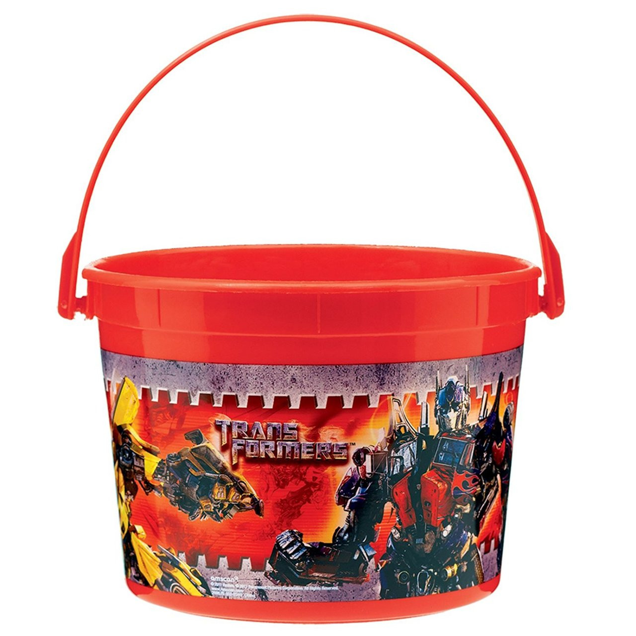 Transformers Plastic Favor Bucket Container ( 1pc ) - Red