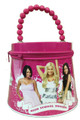 High School Musical Tin Beaded Purse with Zipper - Pink