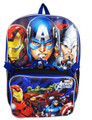 "Avengers Assemble Large 16"" Cloth Backpack Book Bag Pack with Lunch Case Box"