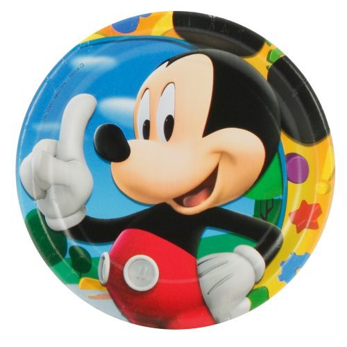 Mickey Mouse Small 7 Inch  Party Cake Dessert Plate