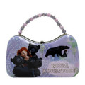 Disney Brave Merida Small Tin Lunch Box Scoop Purse - Royal Adventure