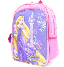 Rapunzel 16 Inch Large Backpack- castle with flowers
