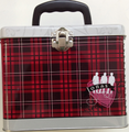 Jonas Brothers Square Carry All Tin Stationery Lunch Box Lunchbox - Red