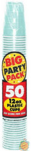 Big Party Pack 12 oz Plastic Cups - Robins Egg Blue