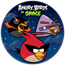 Angry Birds Space  9 Inch Large Dinner Lunch Plates Party Birthday