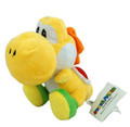 "Super Mario Brothers Yellow Yoshi 6"" Plush Toy Stuffed Animal"