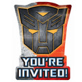 Transformers  Pack of 8 Invitations  - Dark  of the Moon