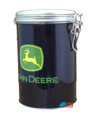 John Deere Round Tin Cookie Jar - Black