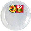 Big Party Pack Large 10 Inch Lunch Plastic Plates - Clear