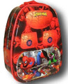 Spiderman Tin Backpack Style Bag School Lunchbox Lunch Box - Red