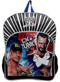 "WWE John Cena CM Punk Large 16"" Cloth Backpack Book Bag Pack - Blue/Black"