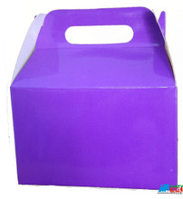 12X Solid Color Purple Paper Treat Boxes