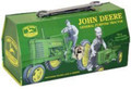 John Deere Carry All Kids Toolbox Tin Stationery Small Lunchbox
