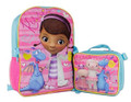 Doc Mcstuffins Large Backpack with Lunch bag-Kisses