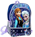"Frozen Ice Princess Anna Elsa Large 16"" Cloth Backpack Book Bag Pack - Purple"