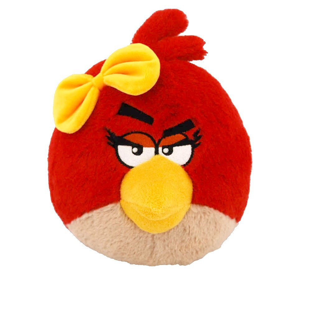 "Angry Birds 5"" Plush Stuffed Toy No Music - Red Bird Girl"
