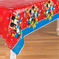 Mickey Mouse Plastic Tablecover Table Cover Tablecloth - Red